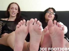 Blonde femdom is a lover of footjobs and domination