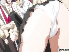 Asian hentai babe fucking a total goober