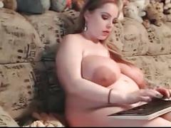 Milk filled big tits web camming whilst pregnant