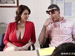 Schooltime threesome with charlee chase and eva karera