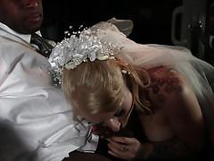 Sexy bride eidyia gets a black dick rammed in her tight bootyhole