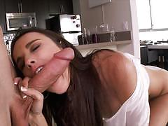 dillion harper, brunette, blowjob, riding, doggystyle, cumshot, facial, reverse cowgirl, pussy licking, sucking