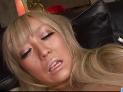 Rina aina gets nasty on her shaved asian cunt