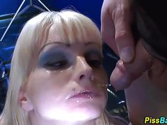 Blonde whore piss soaked