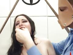 Extreme bdsm asshole action in gangbang  video