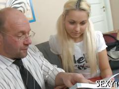 Fellatio for mature teacher hard