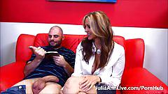 hardcore, juliaannlive.com, blonde, milf, big tits, huge boobs, busty, cumshot, sex teacher, reverse cowgirl, trimmed snatch, doggystyle