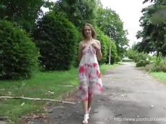 amateur, blonde, public, outside, young, exhib, exhibition, naked, nude, teen, body, pussy, small-tits, park, trees, showing, flashing