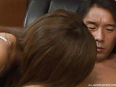 handjob, blowjob, brunette, office sex, undressing, censored, japanese group, asian babe, at work, office sex jp, all japanese pass, miki yamashiro