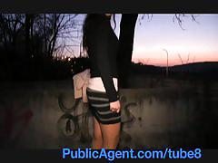 amateur, publicagent.com, nylon, pantyhoes, reality, real, outdoors, outside, cumshot, pov, camcorder, sex for cash, sex for money, public, sex with stranger