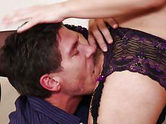 Mick rams his dick into anikka's pussy