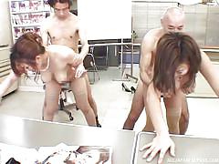 Sexy jp ladies getting banged by horny co-workers