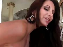 Hot milf puts dildo inside
