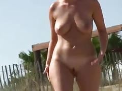 Peach bum soft boobs at cap d agde nude beach
