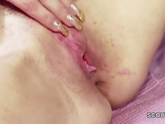 Step-son caught german step-mom masturbation