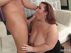 Bbw sucking hard cock