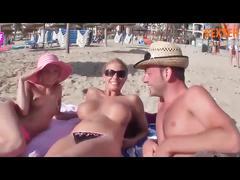 Harrig und versaut am strand