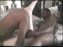 Sucking the black cock and she loves to be sleazy