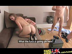 hardcore, fakeagentuk.com, milf, wife, cheating, threesome, blonde, british, office fuck, pov, huge tits, busty, cock sucking, deepthroat, doggystyle