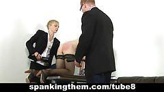 Spanking lesson