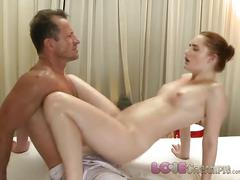 Love creampie young redhead is stretched wide open and fucked by big cock
