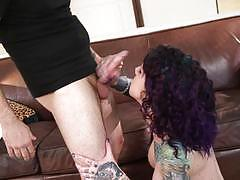 tommy pistol, blowjob, doggystyle, tattoo, cumshot, facial, reverse cowgirl, bent over, doggy, on top, punk, cock suck, goth, riding cock, dick suck