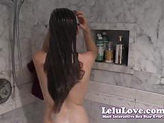 Hot brunette lelu love showering