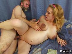 Pregnant babe loves hard cock