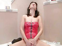 Rampant milf takes on her huge toy