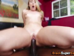 Teen rides massive cock