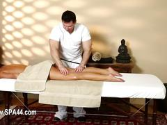 Poor models banged hard in special masseur