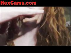 Redhead squirts on webcam