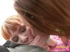 Pervcity redhead teens threesome blowjob