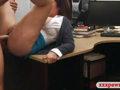 Big boobs milf pawns her twat for her husbands bail