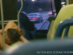 Wicked - two dirty lesbians fuck on the bus