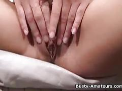 Pretty gia shows her busty boobs and masturbates her pussy