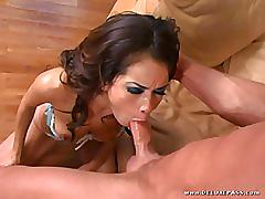 latina, brunette, bald pussy, high heels, slim, doggy style, missionary, cowgirl, hand job, lingerie