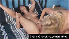 Big tit sluts charlee chase and katie make each other cum!