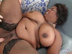 Sassy bbw gets her moist pussy hammered