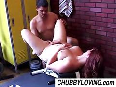 Cute chubby babe tru loves cum all over her nice big tits