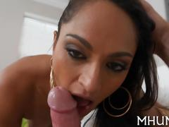 Milf mom sucks a hard cock and rides her new lover