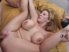Alluring sara jay wraps her pussy to get a creampie