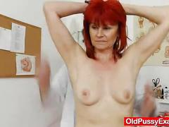 pussy, mature, doctor, exam, redhair, gyno, closeups