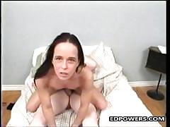 Horny brunette loves to fuck