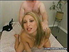 Elegant blonde gets her pussy hammered