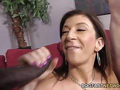 Sara jay fucks black cock while being watched