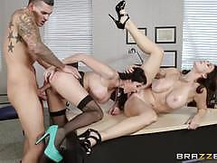 charlee chase, eva karera, riding, big tits, doggystyle, cumshot, facial, desk, school, share, reverse cowgirl, stockings, heels, threesome, ffm, cowgirl, pussy licking, suspenders, stepmom