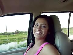 Sexy runner nadia capri gets fucked in the back seat