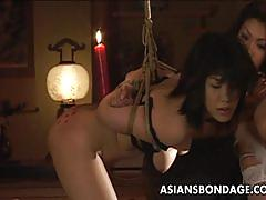 Bdsm teasing with two asian sluts