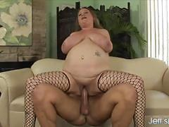 Randy bbw gets her pussy slammed